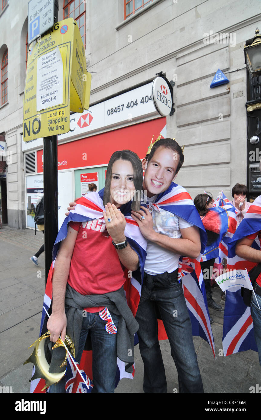 William and Kate Royal Wedding 29th April 2011 Stock Photo