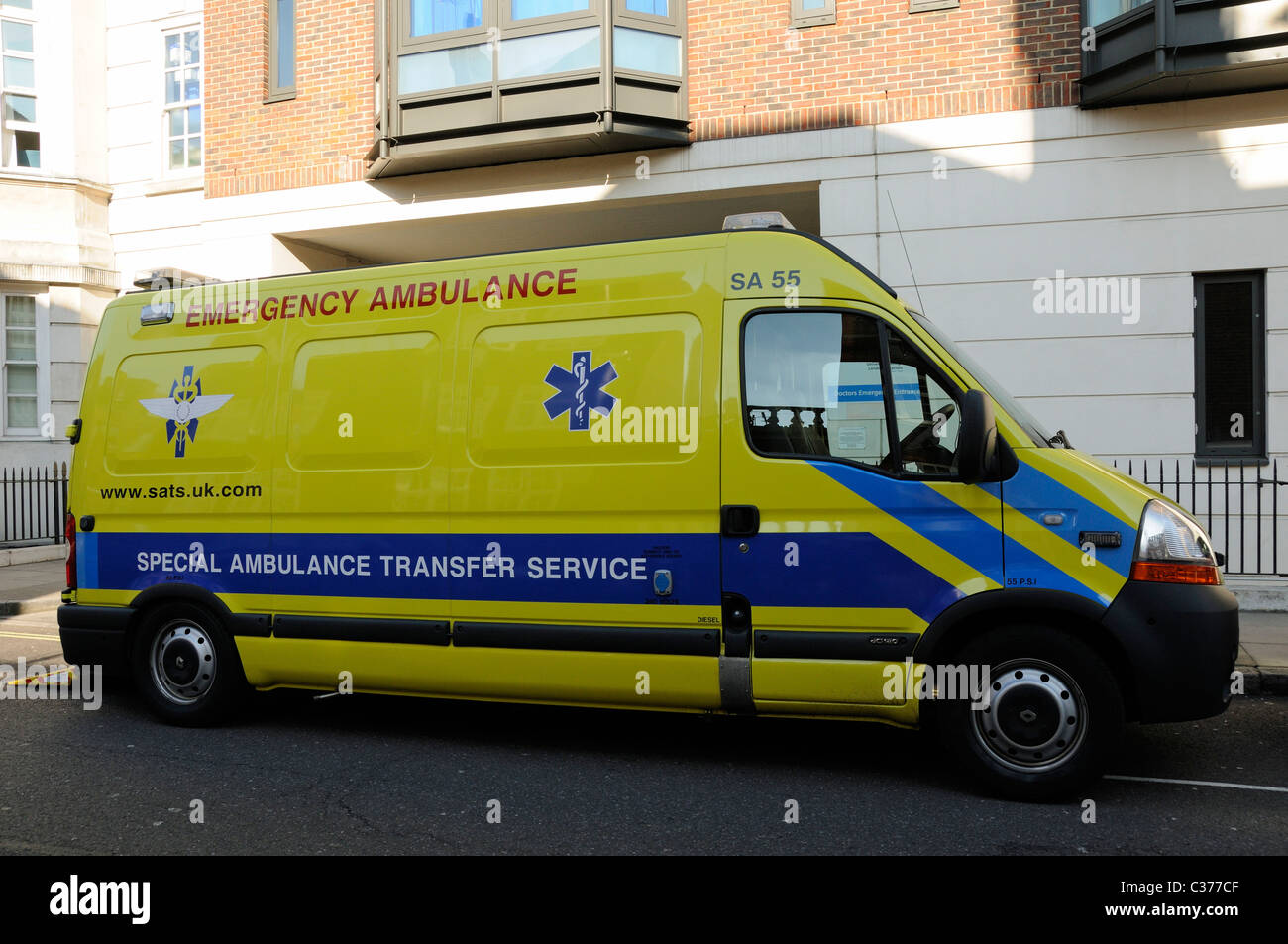 Special Ambulance Transfer Service - Stock Image