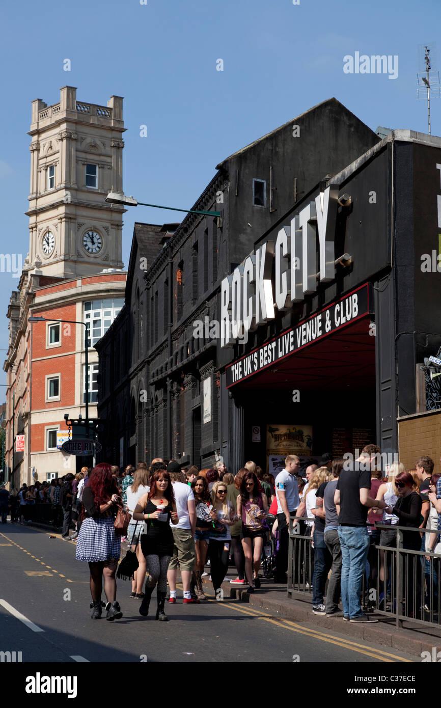 'hit the deck festival' Rock City concert venue Nottingham city centre Nottinghamshire England GB UK EU - Stock Image