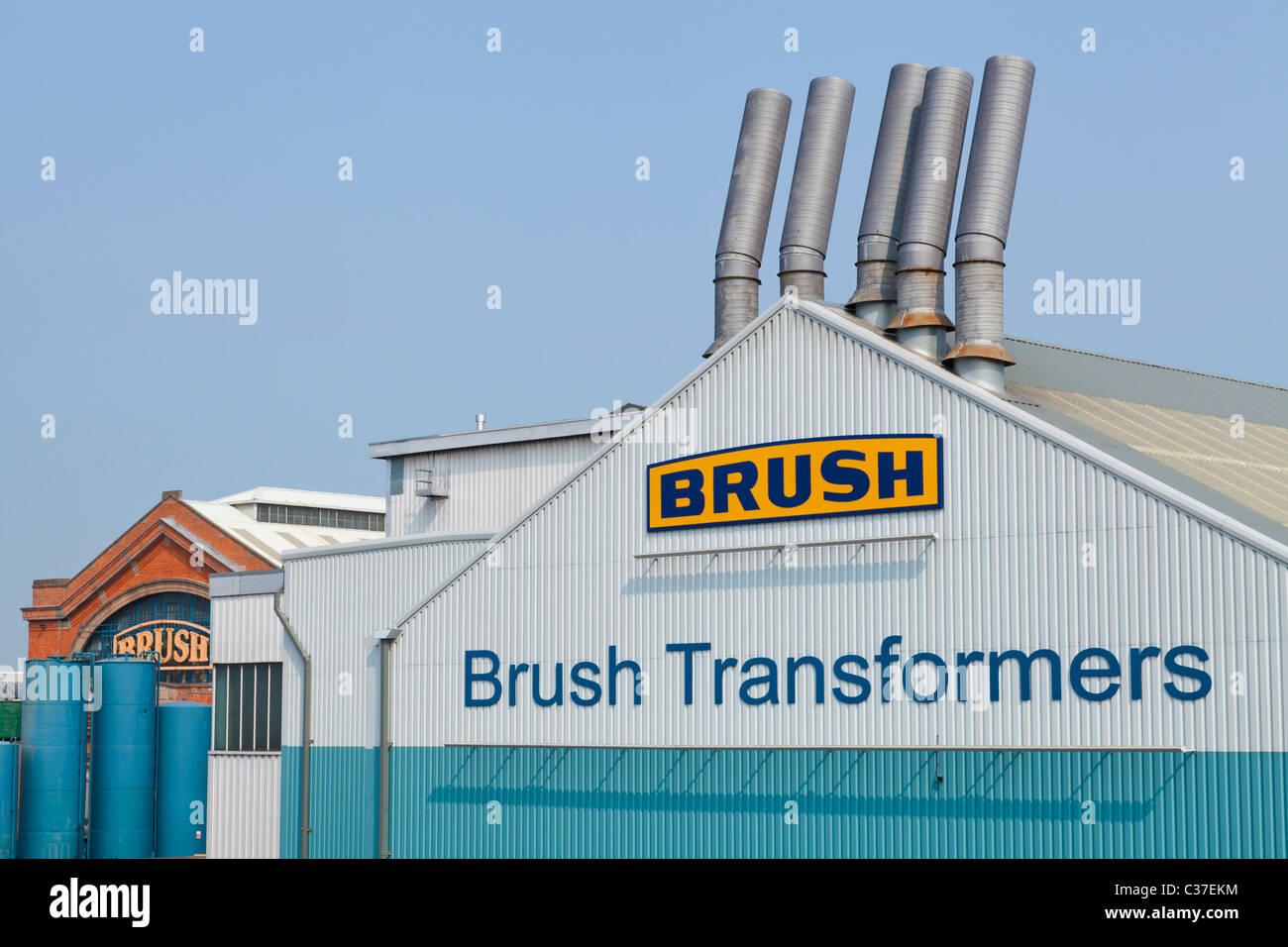 Brush Transformers company Loughborough Leicestershire England GB UK EU Europe - Stock Image