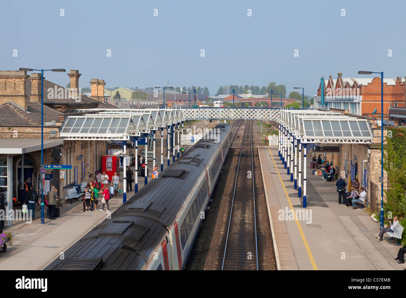 Loughborough Railway Station home of the Great Central Railway Leicestershire England GB UK EU Europe - Stock Image