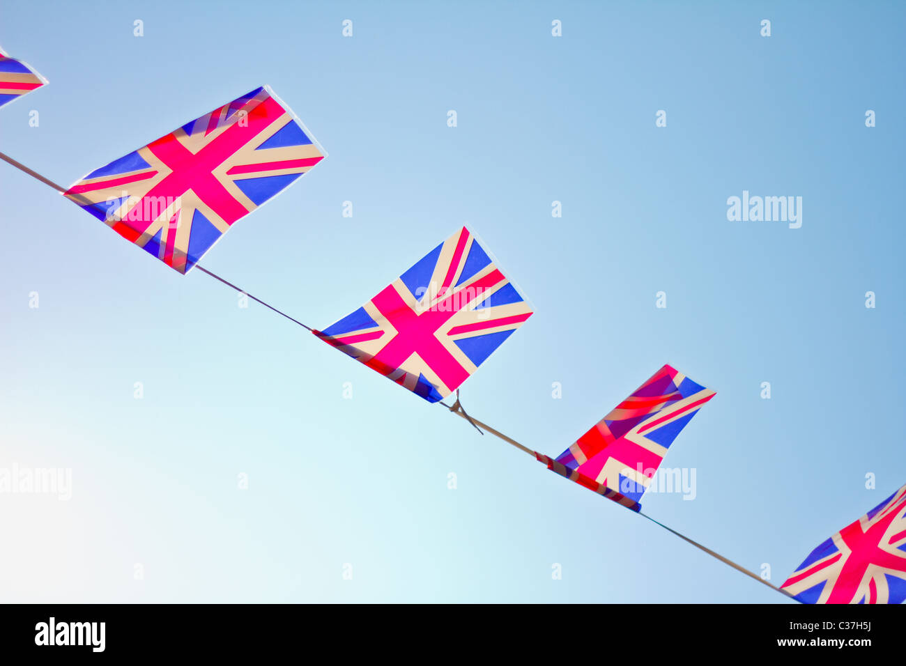 Great Britain flag bunting. - Stock Image