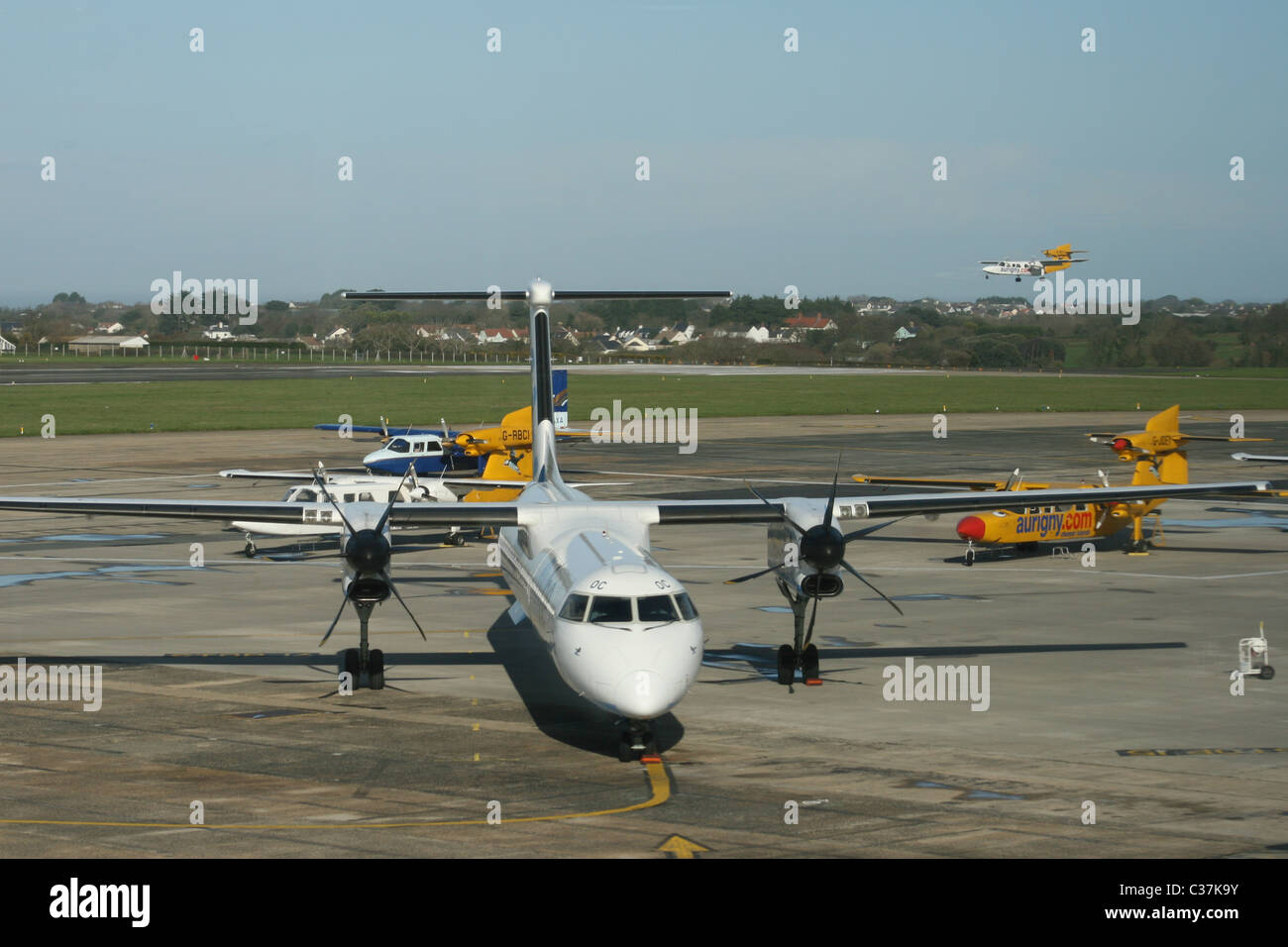 GUERNSEY AIRPORT - Stock Image