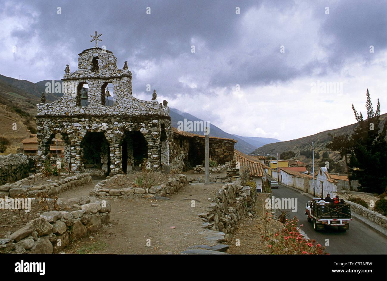 Stone chapel, capilla de piedra, Mucuchies, Venezuela - Stock Image