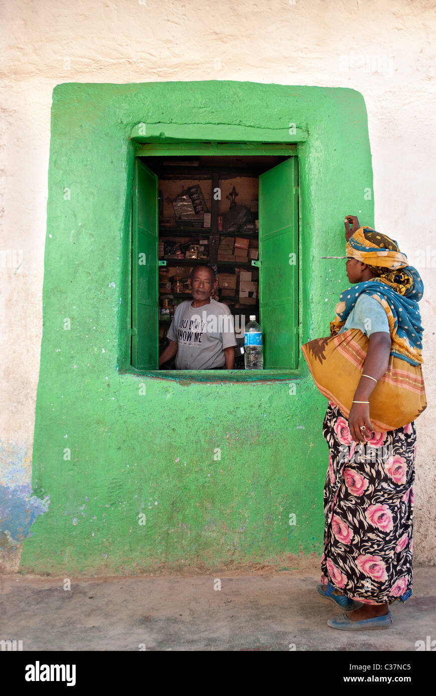 grocery shop in harar ethiopia - Stock Image