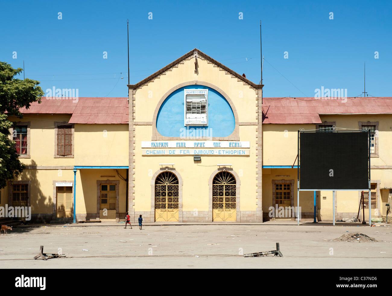 ethiopia to djibouti railway station in dire dawa ethiopia - Stock Image