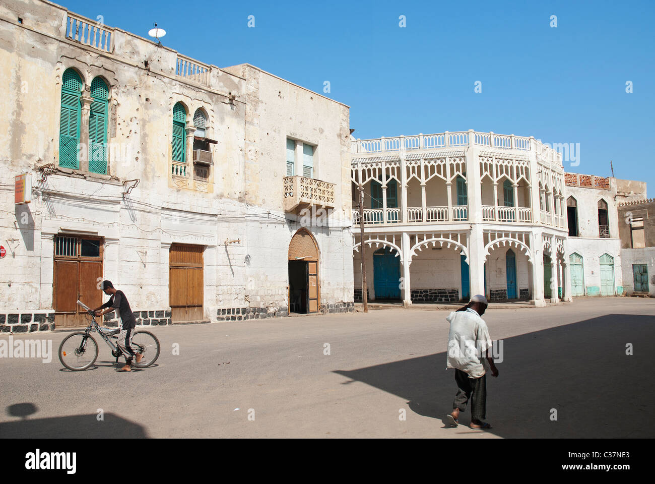 street scene in central massawa eritrea - Stock Image