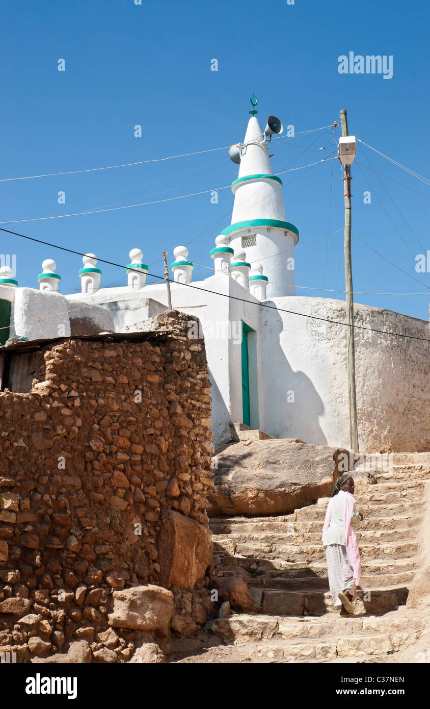 mosque in harar ethiopia - Stock Image