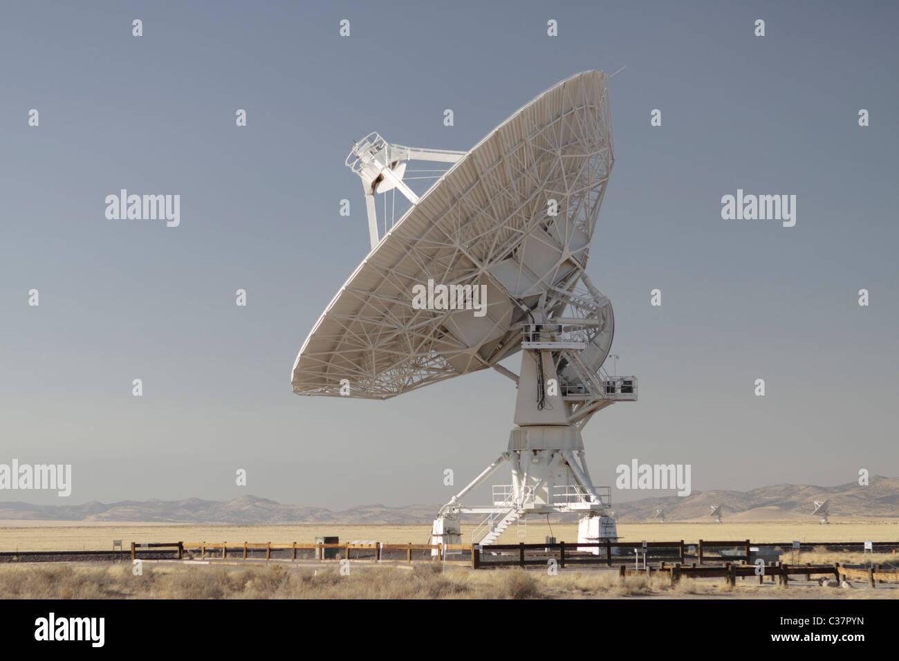 Very Large Array (VLA) radio astronomy observatory located near Socorro, New Mexico, USA. Stock Photo