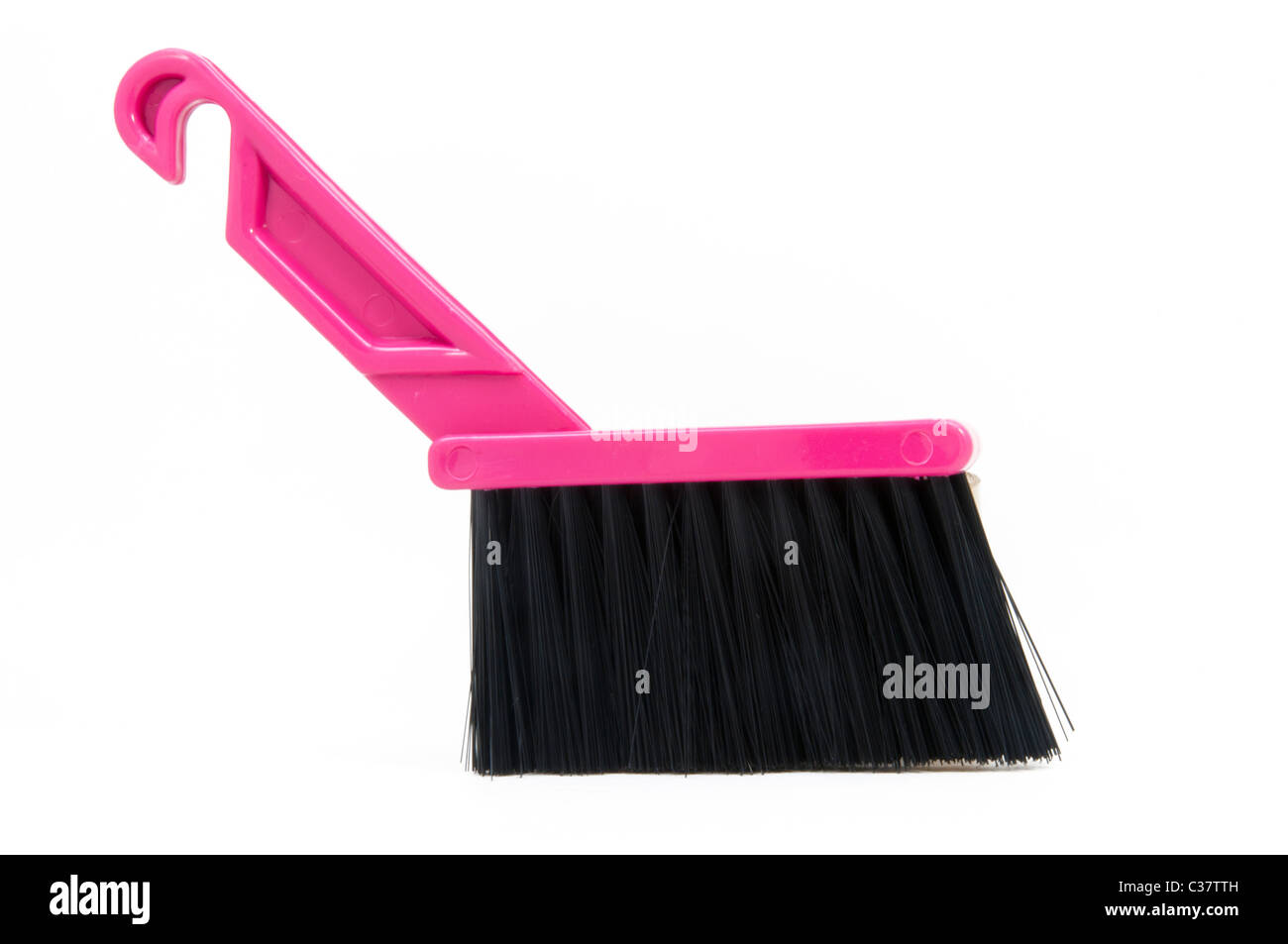 Pink Brush in white background, Cutout - Stock Image