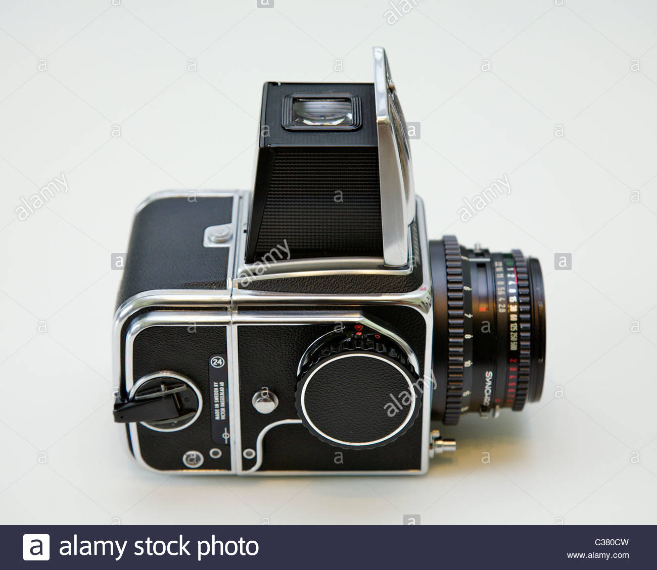 Hasselblad 500cm medium format camera with 50mm Zeiss lens and A-12