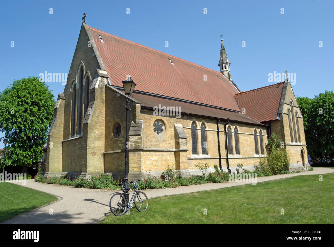 all saints church, putney common, southwest london, england, completed 1874 by architect g.e. street Stock Photo