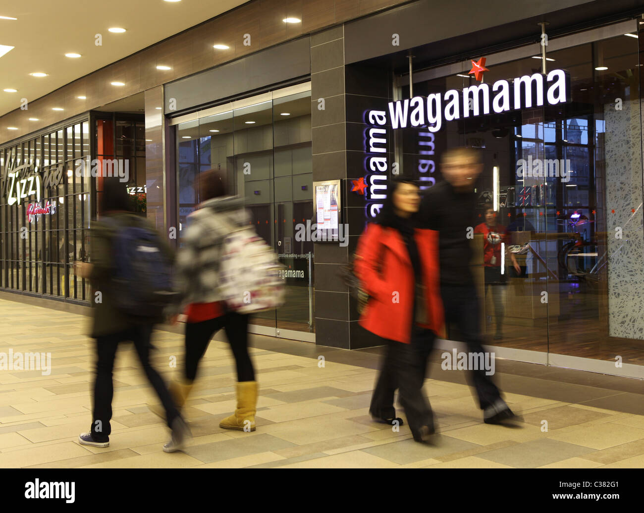 A branch of the food chain Wagamama in a shopping mall in the united kingdom - Stock Image