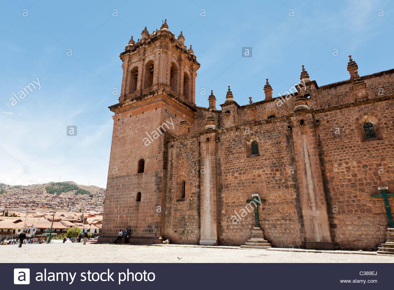 Cusco Cathedral on Plaza de Armas, Cusco, Peru. Stock Photo