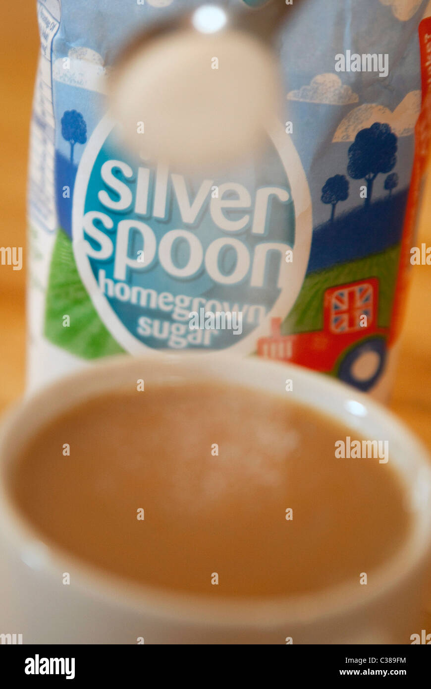Illustrative image of Silver Spoon Sugar, an Associated British Foods brand. - Stock Image