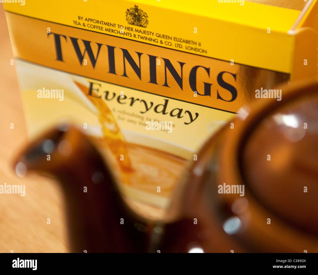 Illustrative image of Twinings Tea, an Associated British Foods brand. - Stock Image