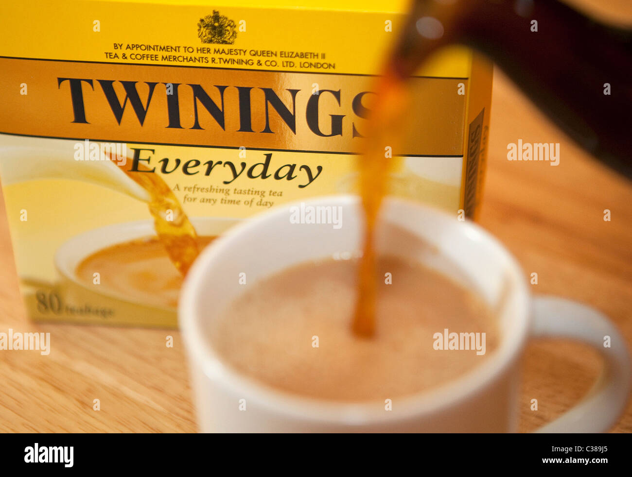 Illustrative image of Twinings Tea, an Associated British Foods brand. - Stock Image