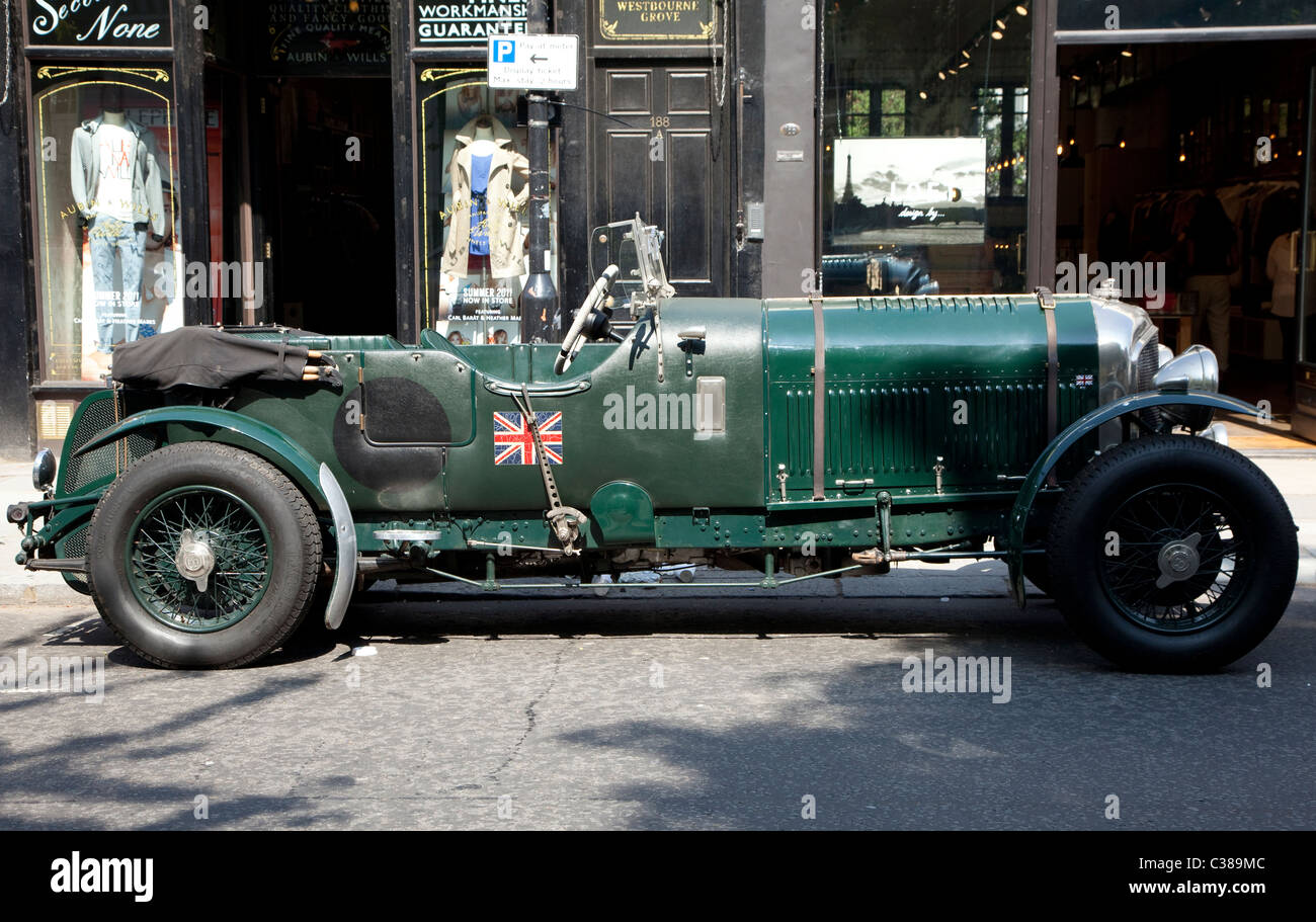 Captivating Vintage 4 1/2 Litre Bentley Sports Car, London   Stock Image