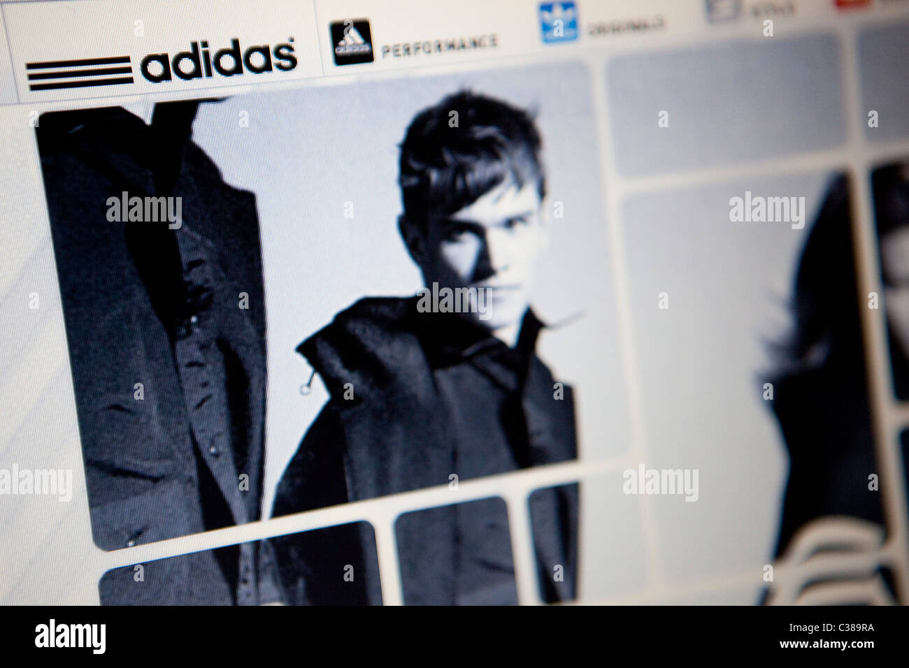 The ADIDAS website. - Stock Image