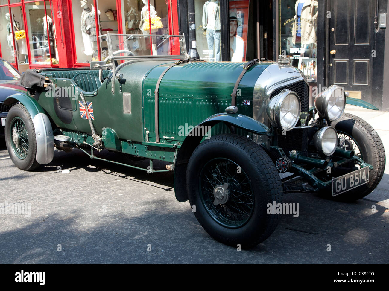 Vintage 4 1/2 Litre Bentley Sports Car, London