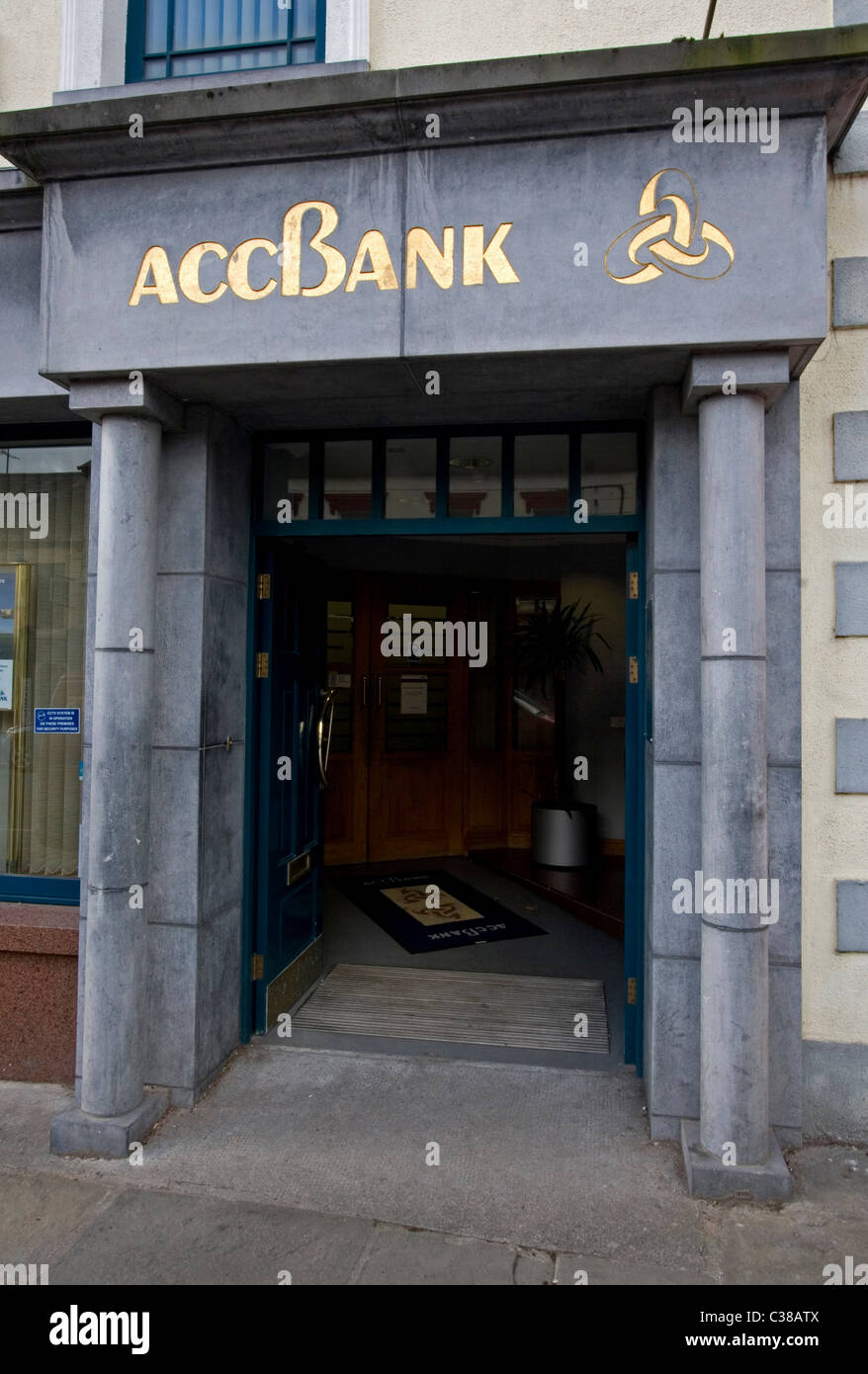 A Branch of the ACC Bank (Agricultural Credit Corporation), Roscommon, West of Ireland - Stock Image