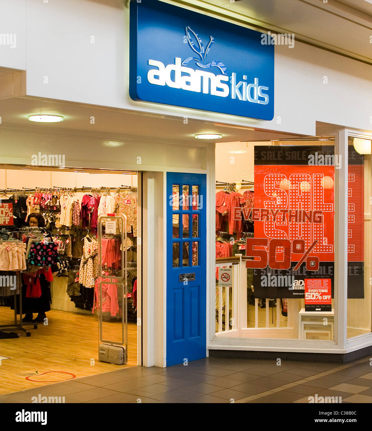 9211b98b3 Exterior of an Adams Kids store in North London Stock Photo ...