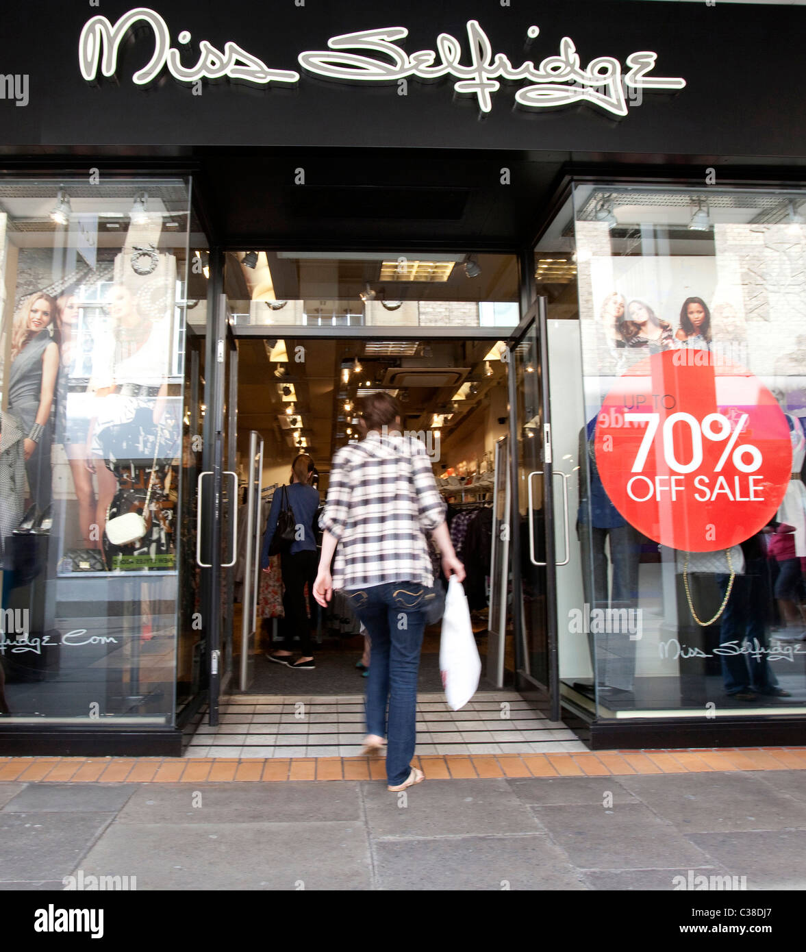 086f23654f4b9 Exterior of a Miss Selfridge store. Part of the Arcadia Group. - Stock Image
