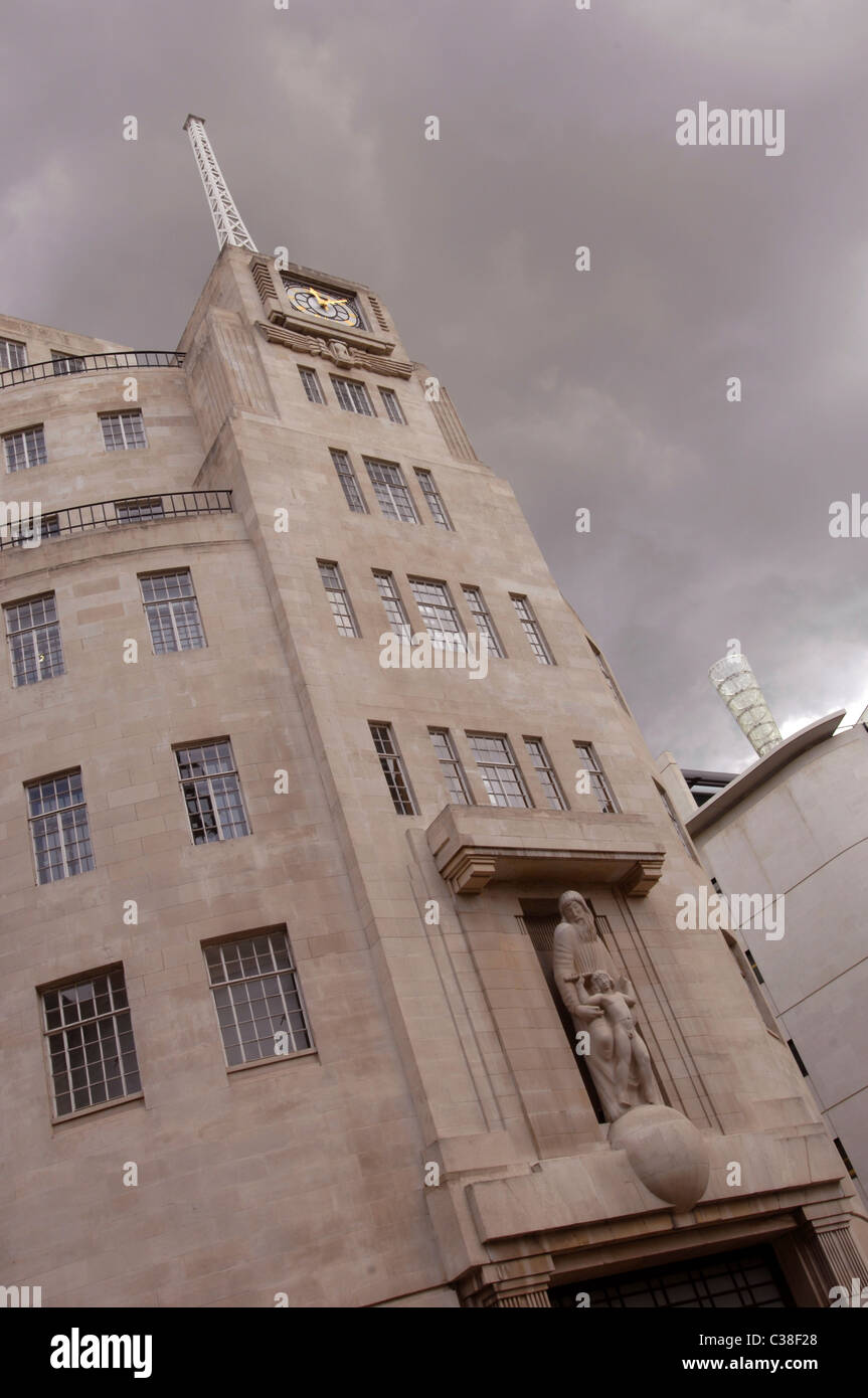 BBC Broadcasting House in London. Stock Photo