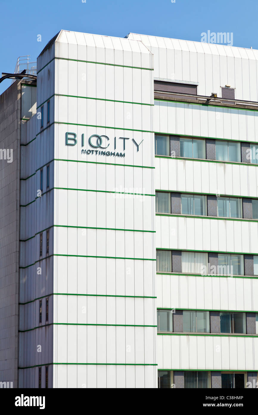 Biocity is home to many bioscience based companies Nottingham City centre Nottinghamshire England GB UK EU Europe - Stock Image