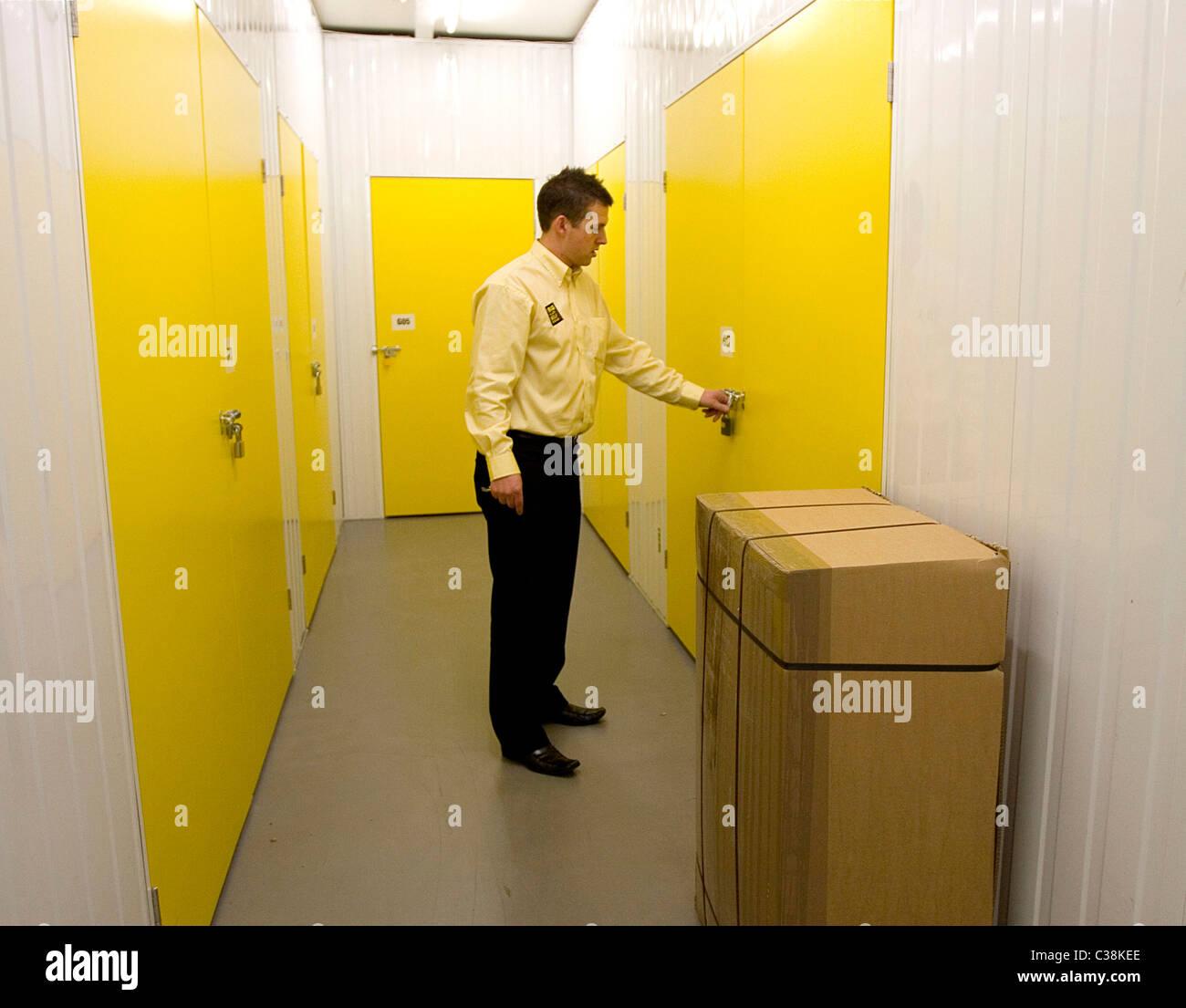 Illustrative image of a Big Yelllow Storage warehouse, London. - Stock Image