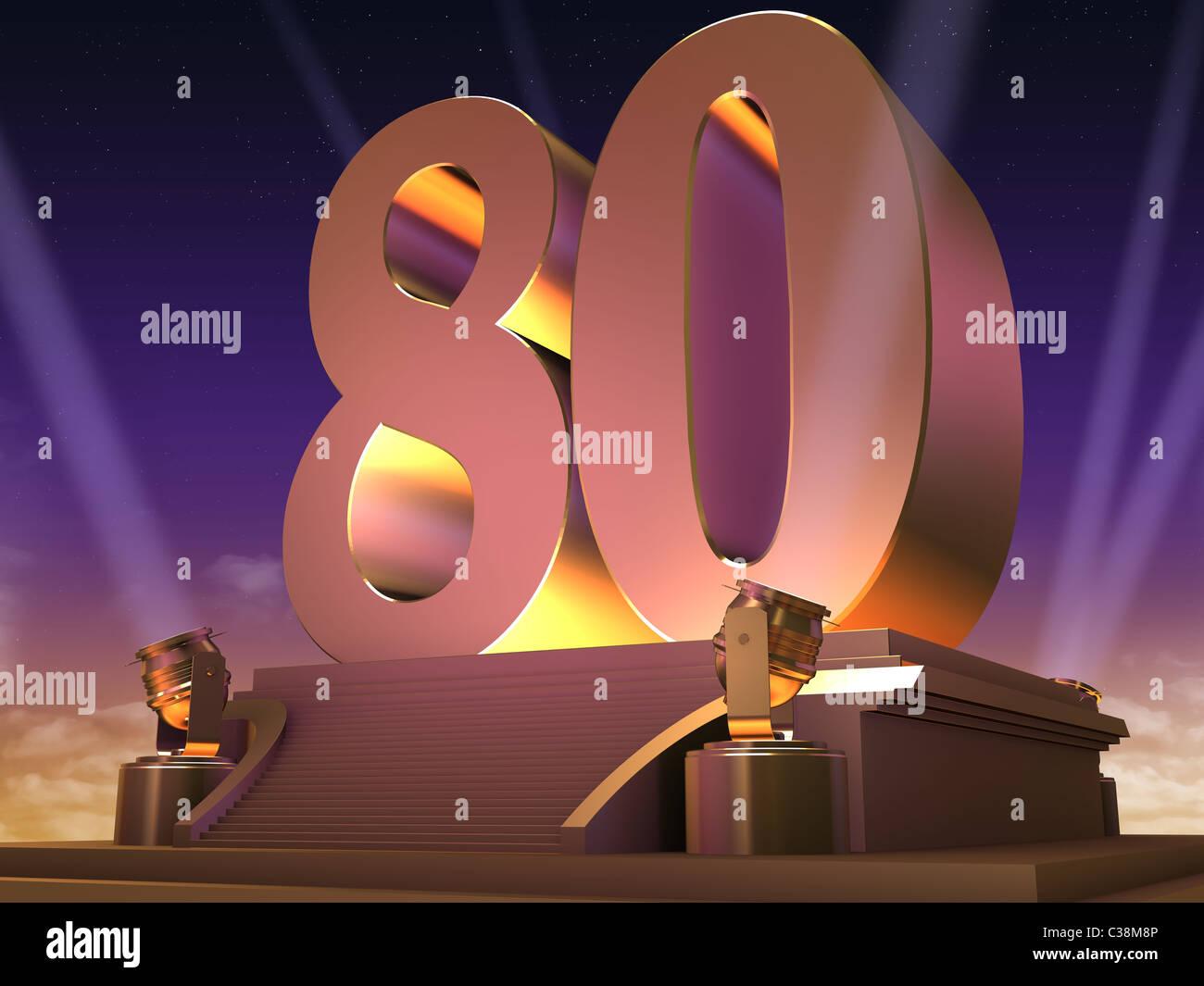 golden 80 - Stock Image