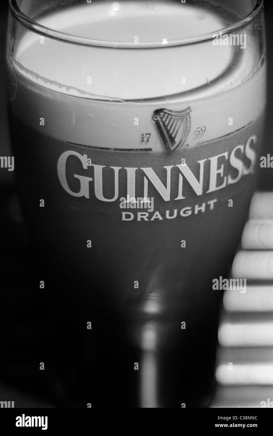 Illustrative image of a Guiness Pint - Stock Image