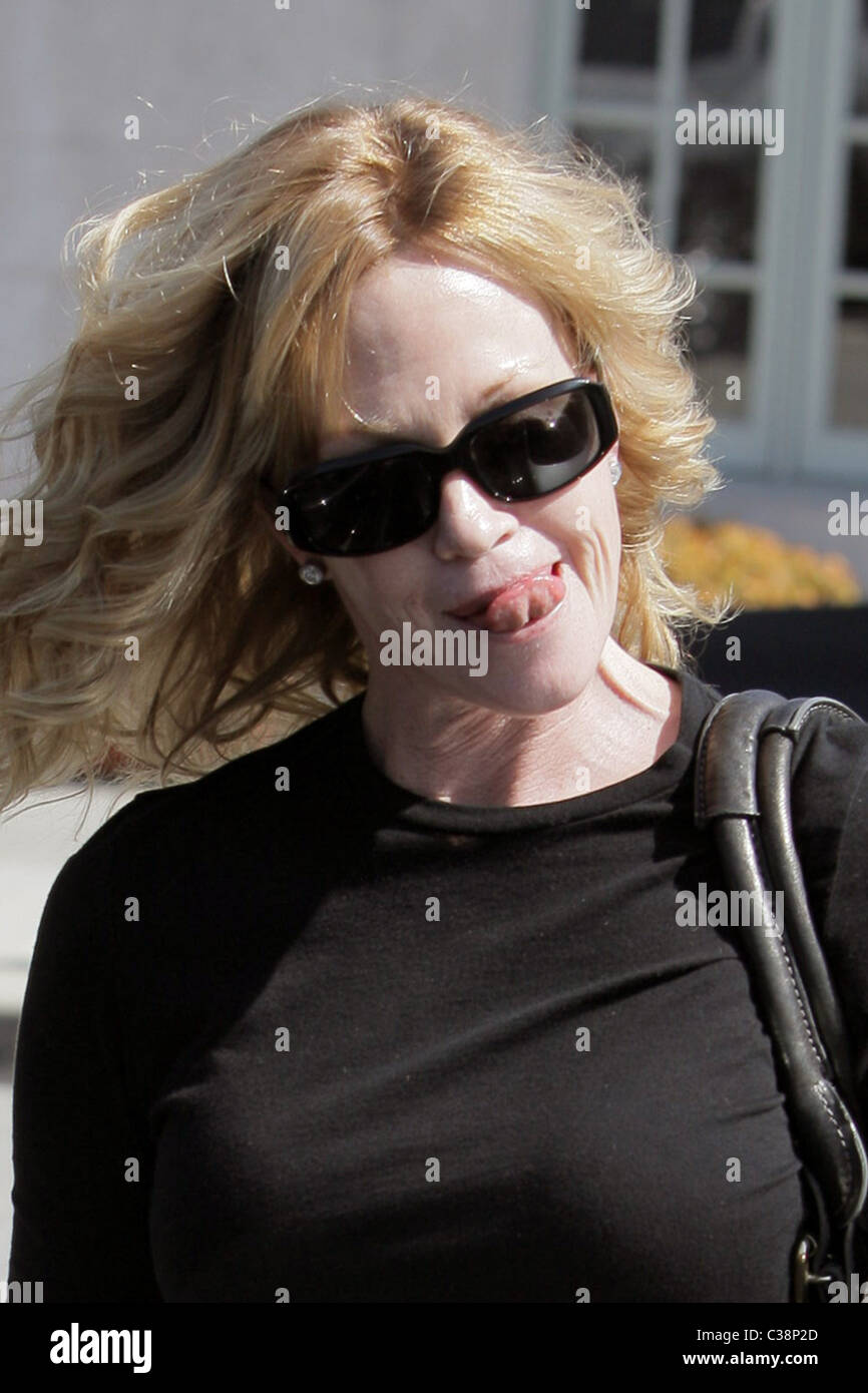 Melanie Griffith departs Neil George Salon Los Angeles, California - 27.03.09 - Stock Image