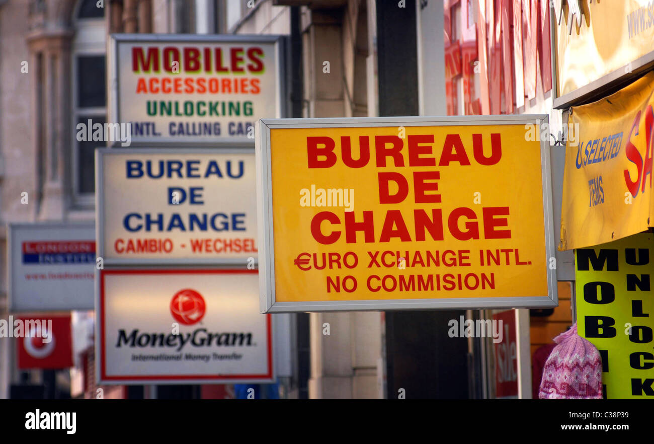 Bureau de change stock photo  alamy