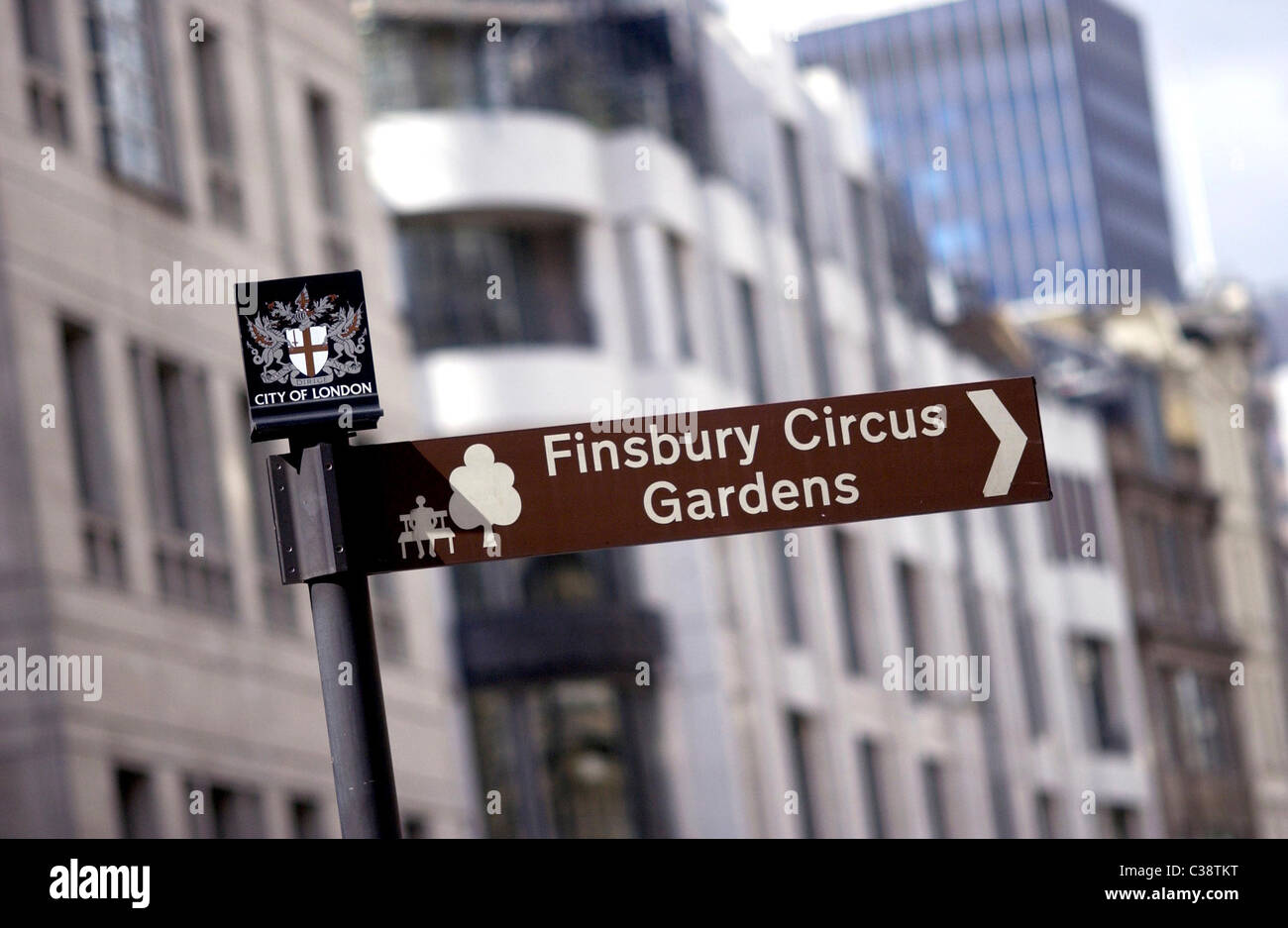 Picture shows a City of London sign in Central London. - Stock Image
