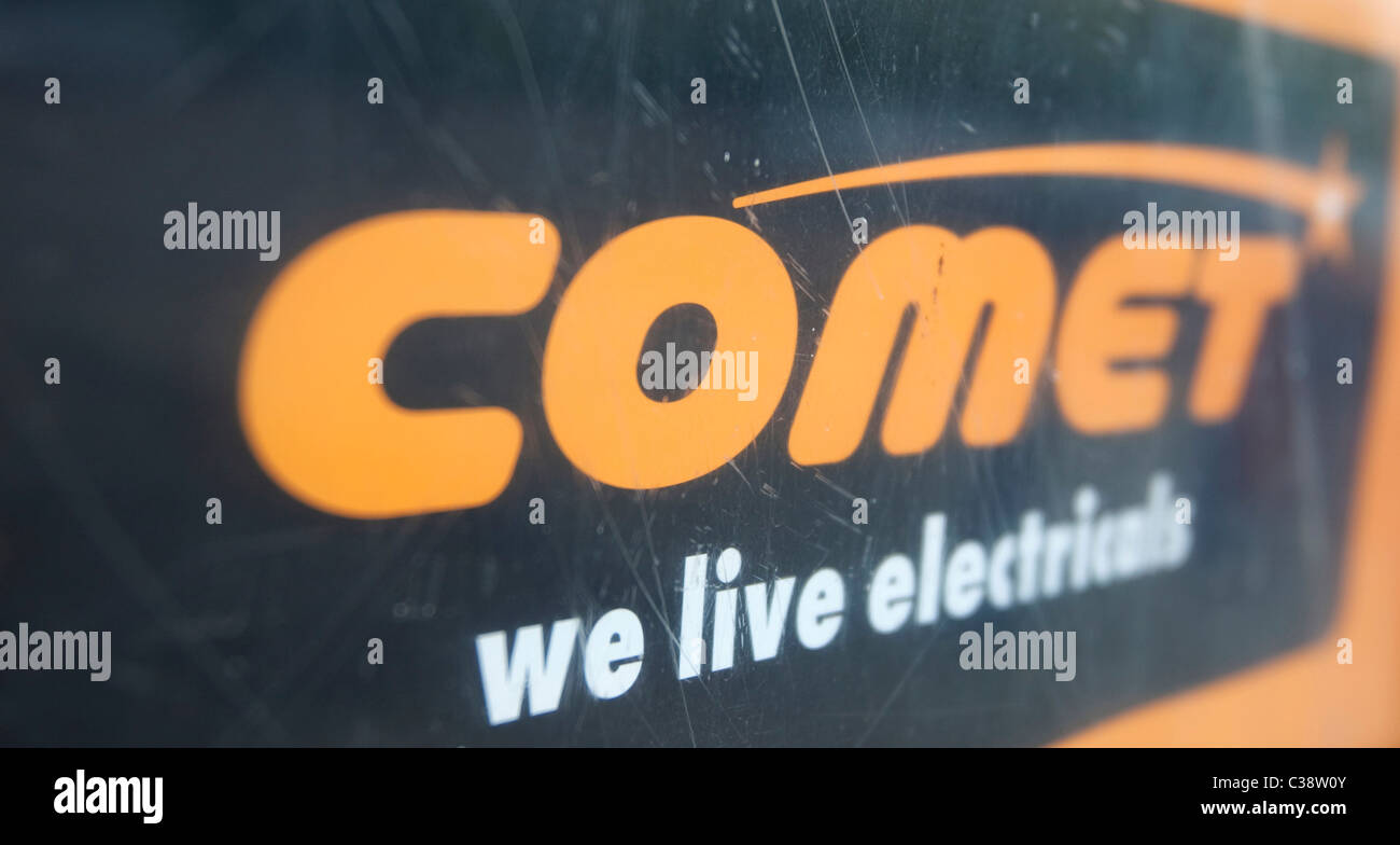 Illustrative image of a Comet branch, part of the Kesa Electricals group. Cambridge - Stock Image