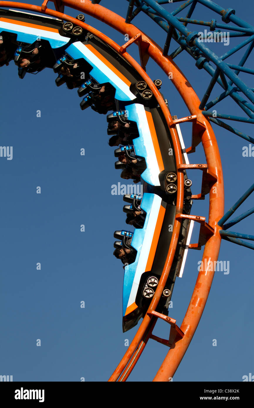 Irn Bru Revolution Arrow Dynamics shuttle roller coaster at