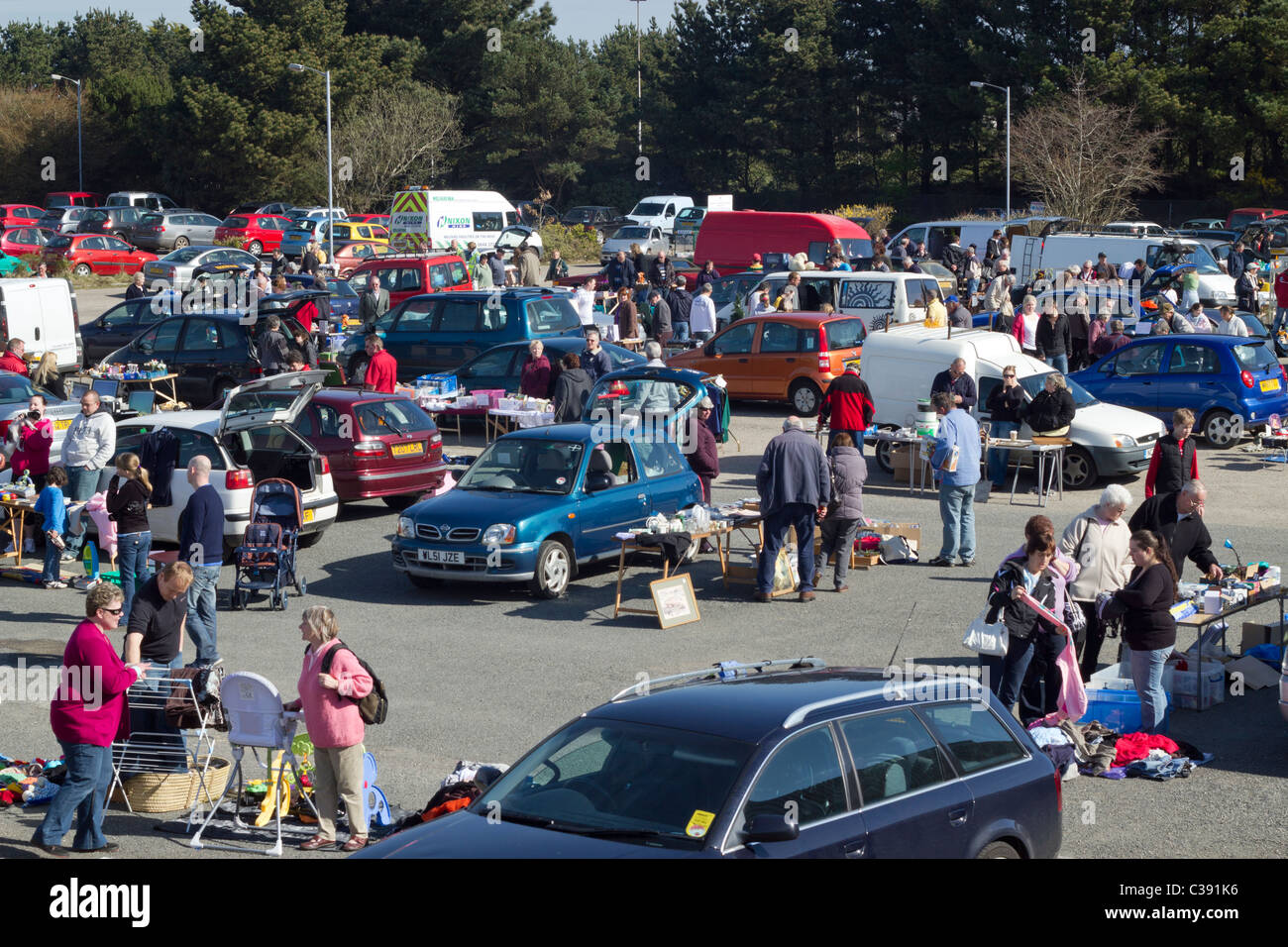 A Car Boot Sale At The Carn Brea Leisure Centre Car Park In Pool