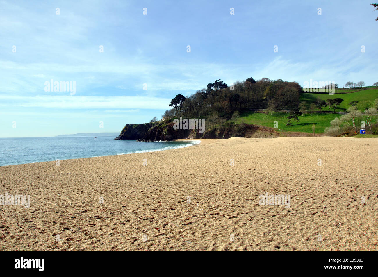 Blackpool Sands Beach, South Devon, U.K. - Stock Image