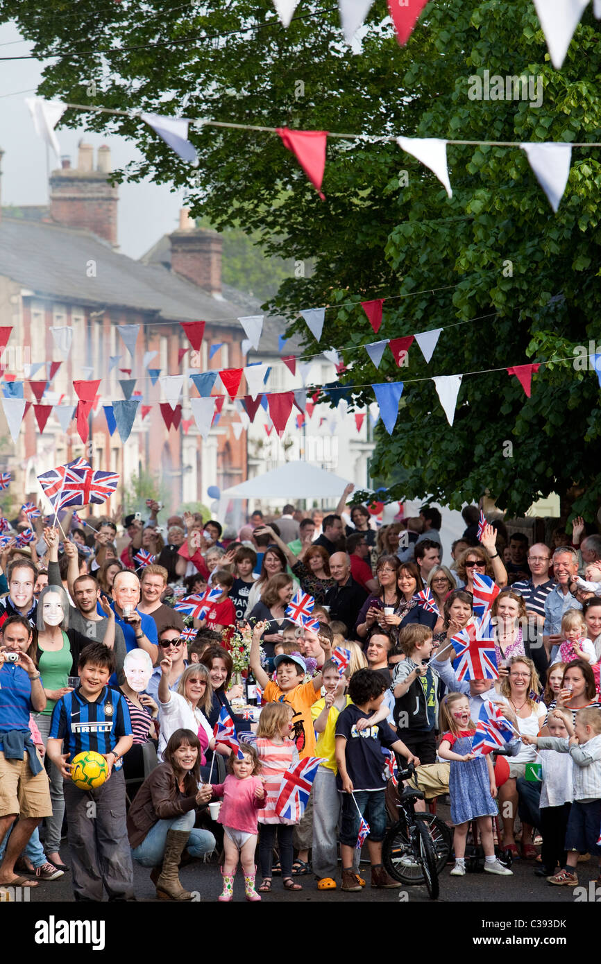 Street Party in Berkhamsted, Hertfordshire, to celebrate the Royal Wedding of Prince William and Kate Middleton - Stock Image