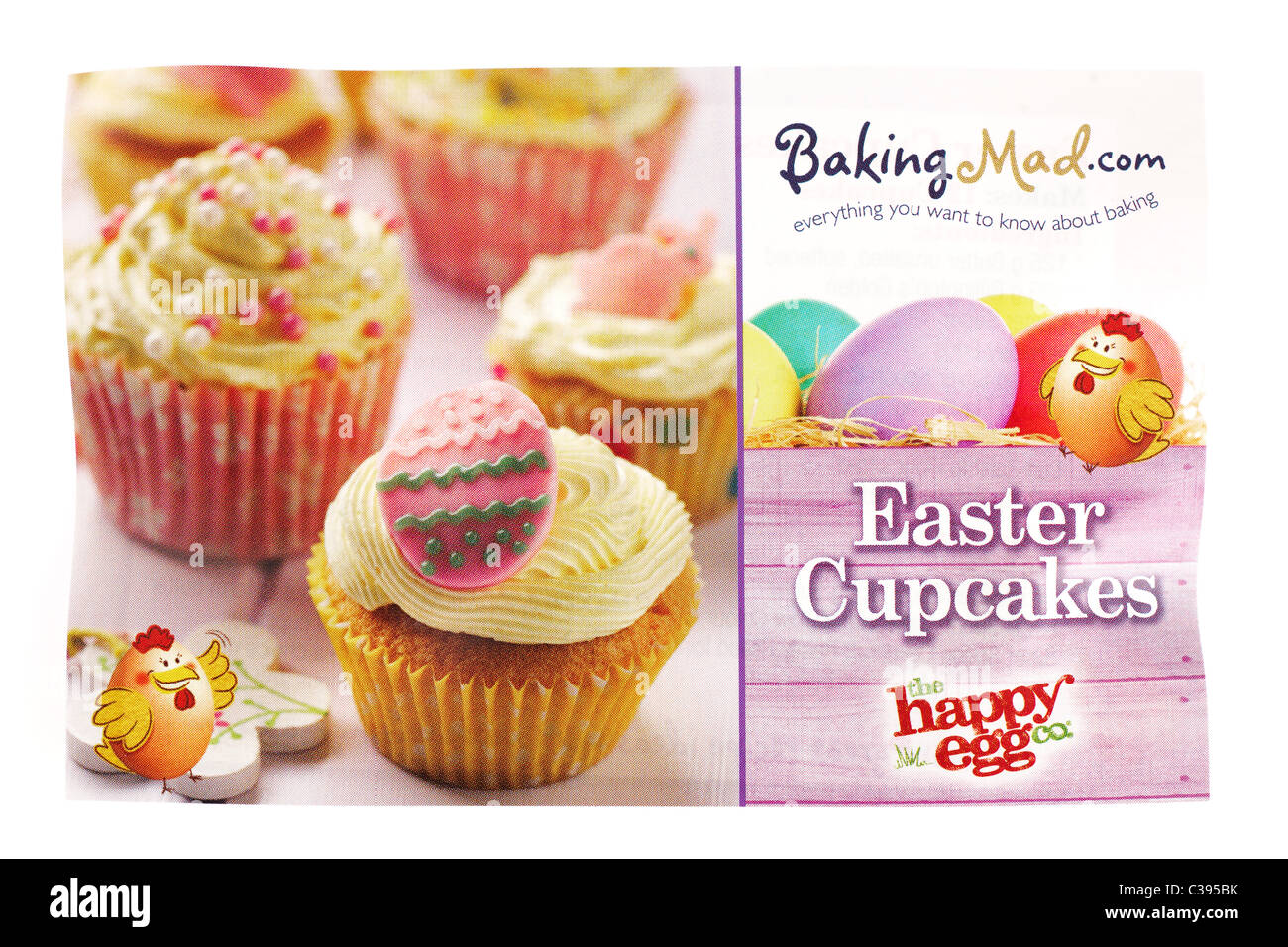 Leaflet advertising Baking Mad.com everything you wanted to know about baking - Stock Image