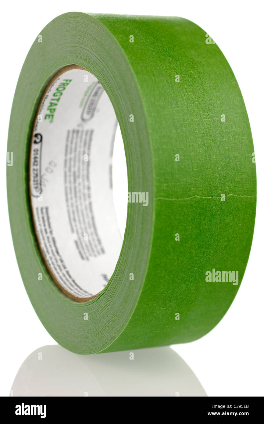 green roll of frogtape painters masking tape stock photo: 36466595