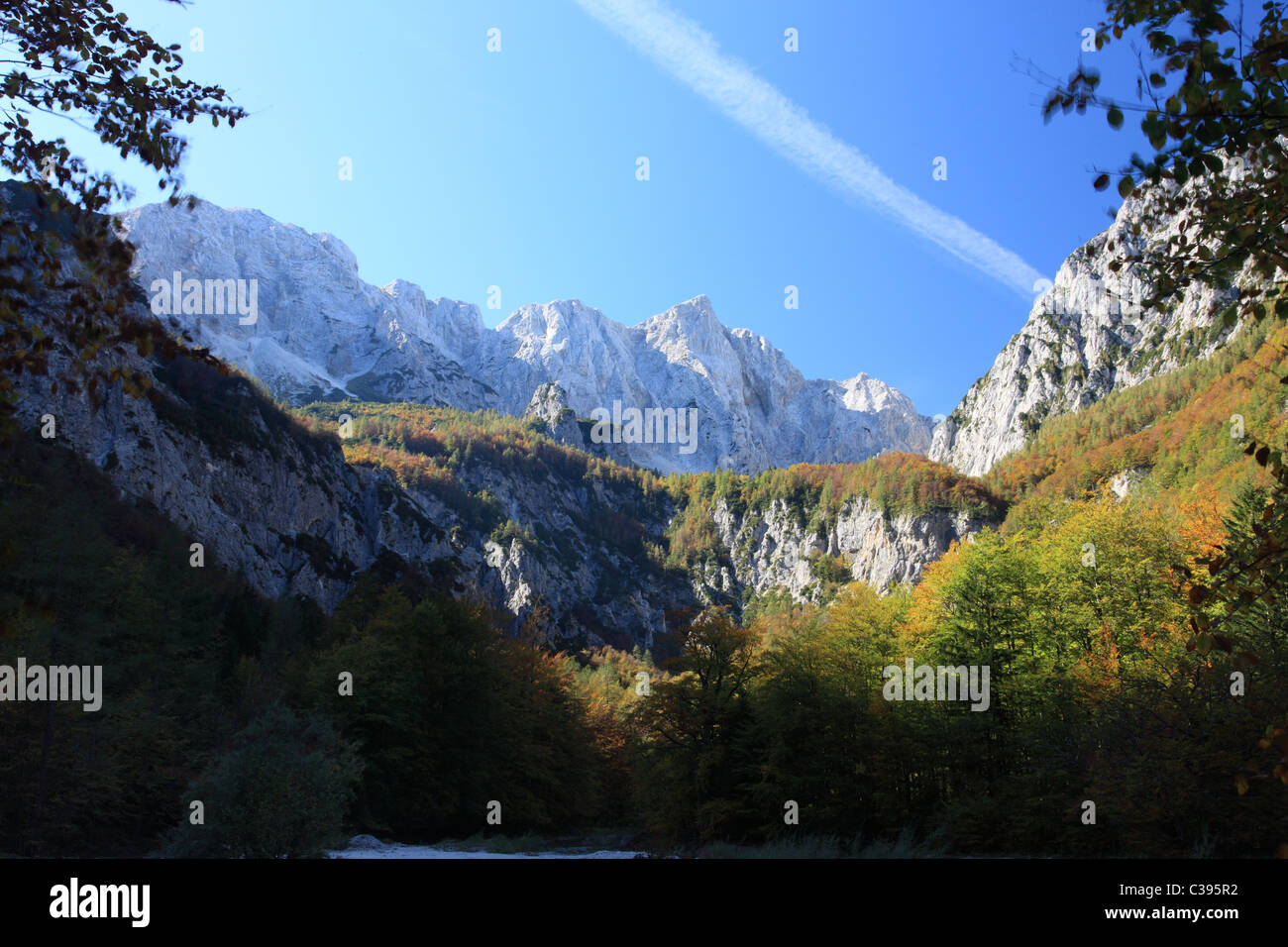 Beautiful Alps and untouched wilderness in West Slovenia, Europe. - Stock Image
