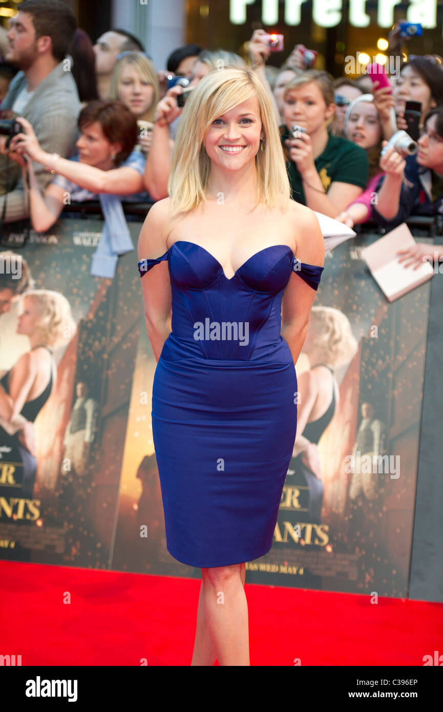 Reese Witherspoon at the UK premiere Water For Elephants, hosted at the Vue Westfield London 3rd May 2011 - Stock Image