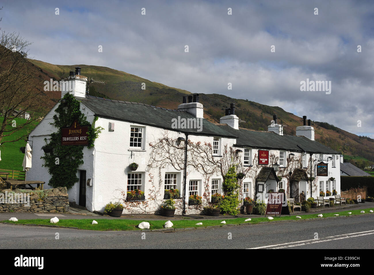The Travellers Rest Hotel, nr. Grasmere in the Lake District - Stock Image