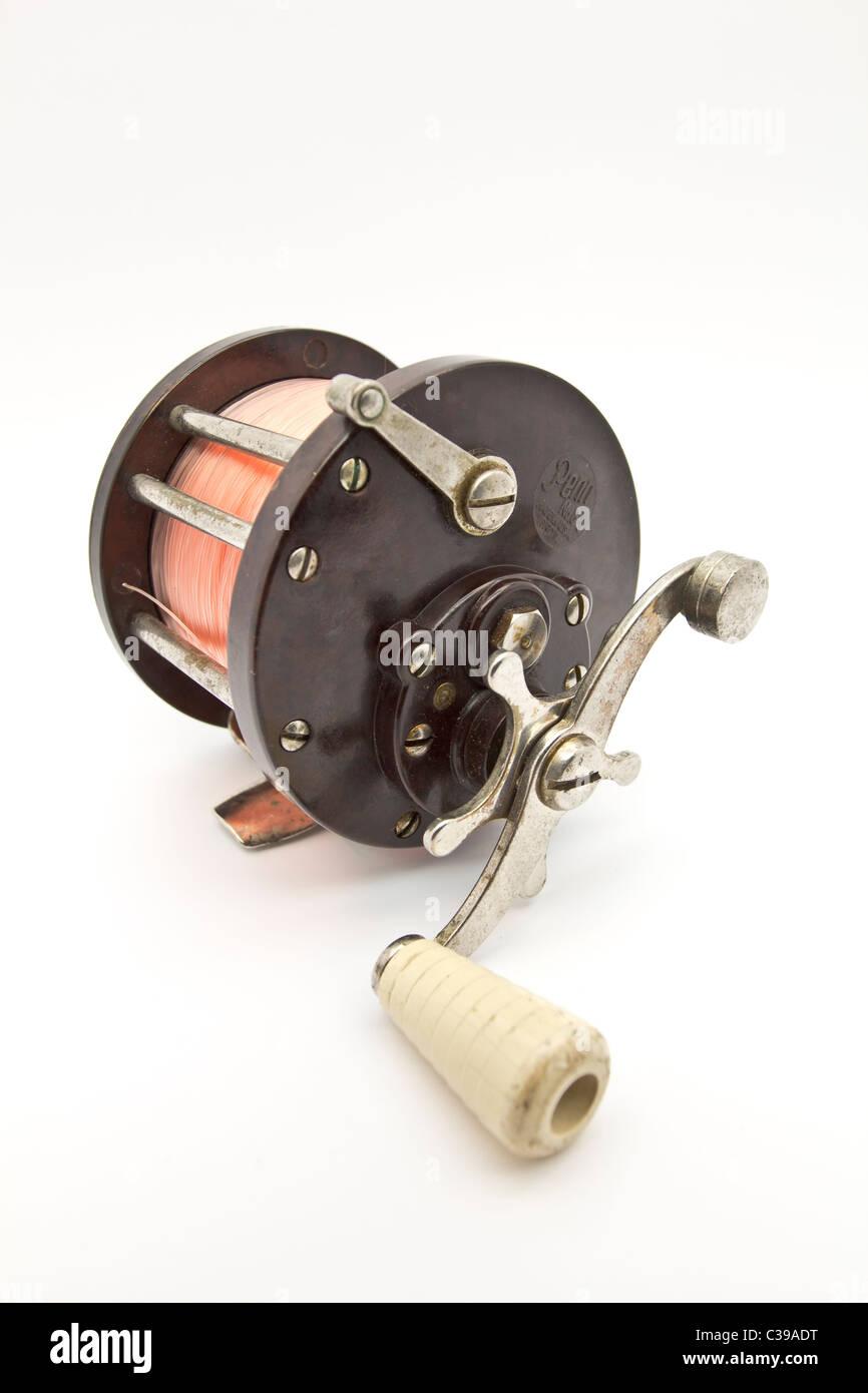 fishing reel Penn No 85 - Stock Image