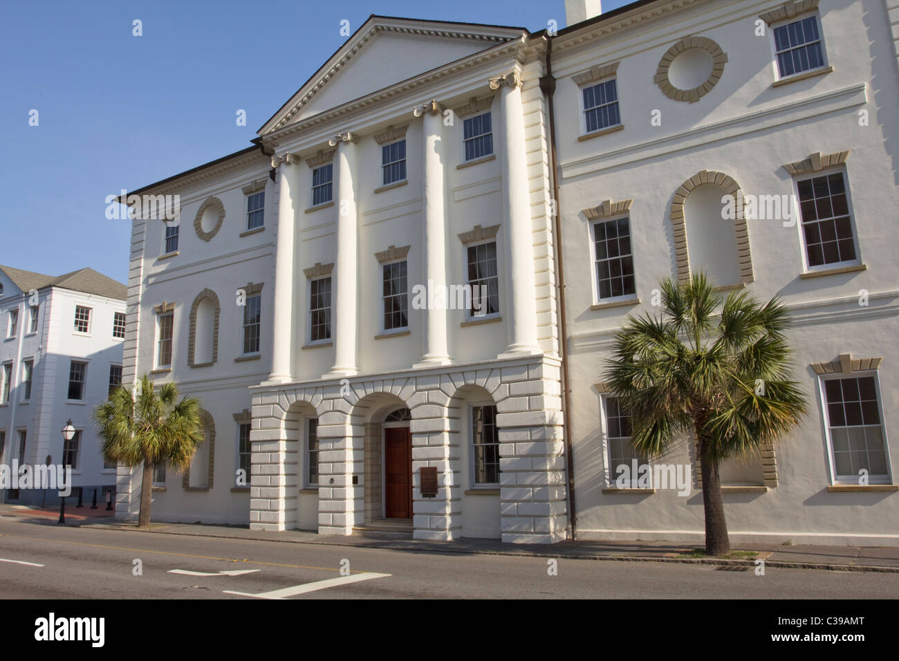 County of Charleston Historic Courthouse 84 Broad Street Charleston South Carolina - Stock Image