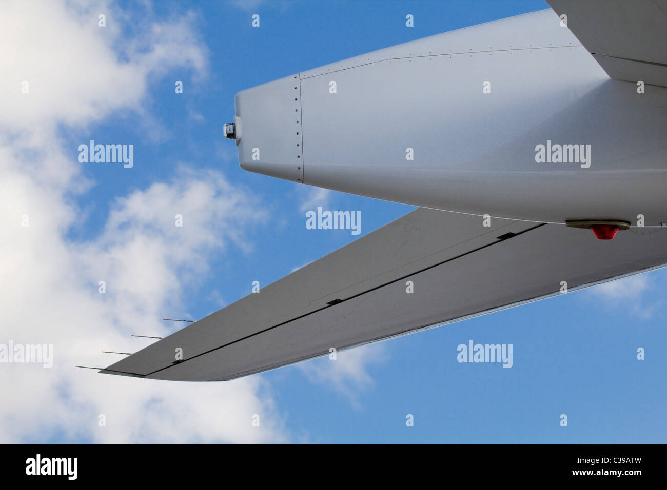 small jet aircraft tail section - Stock Image