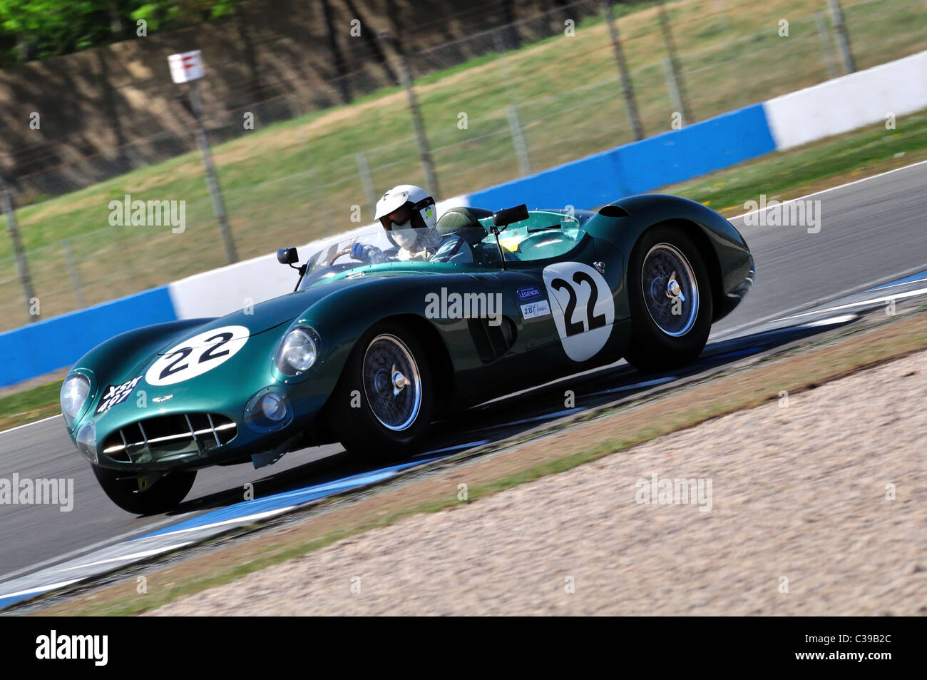 Stirling Moss Trophy for pre-'61 Sports Cars - Richard Attwood, 1957 Aston Martin DBR1 - Stock Image