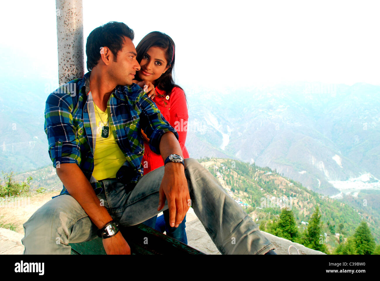 Love Pose Indian Boy Girl Stock Photos Love Pose Indian Boy Girl